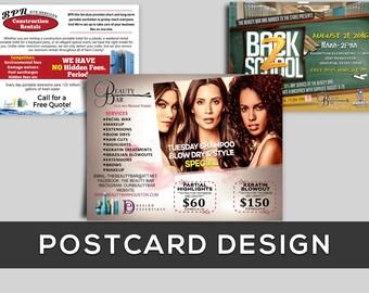 Custom postcard advertising