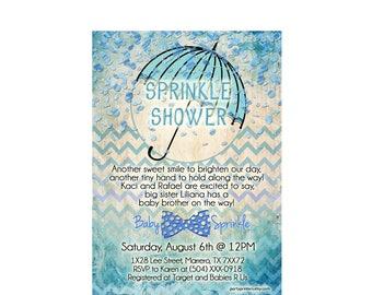 baby sprinkle invitation, baby boy sprinkle invitation, baby shower invites, baby boy shower invitation, printable digital invitation