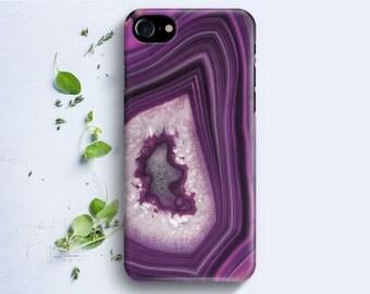 iPhone Case - Purple Agate Stone Texture - iPhone 4/4s iPhone 5 iPhone 5c iPhone 5s iPhone 6 iPhone 6 Plus iPhone 6s iPhone SE iPhone 7
