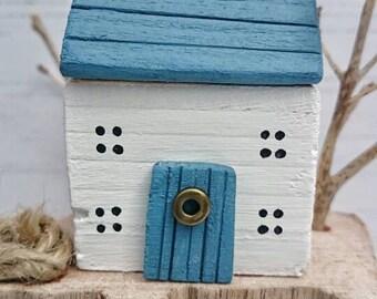 Wood Sculpture, Wood House, Original Art, Driftwood Art, Wooden House, Coastal Decor, Recycled Wood Art, Reclaimed Wood, Driftwood Gift