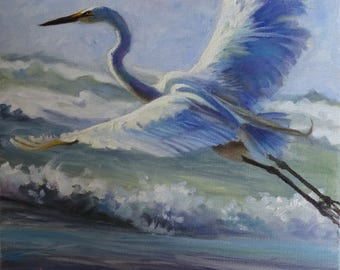 """Foamy Flight 18x18 Museum Quality Reproduction on stretched canvas, with 1""""3/8 gallery profile,  ready to hang."""
