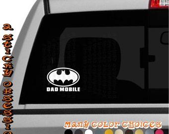 Batman inspired Dad Mobile Bat Mobile Custom Decal Car Laptop Ipad Sticker