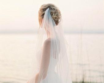 draped veil wedding veil bridal veil boho veil swoop veil soft
