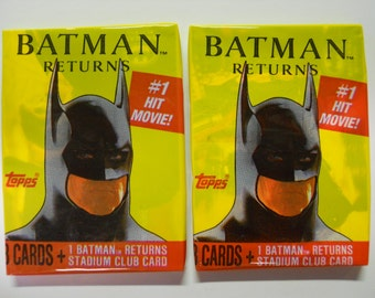 VINTAGE! 1991 Topps Batman Returns Lot of 2 Trading Card Packs