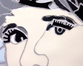 Personalise your portrait, Ceramic portrait mosaic art picture