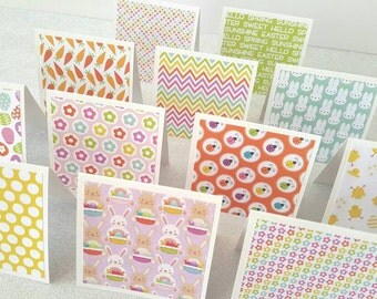 Mini easter cards / mini spring cards / Easter mini cards / easter cards / Happy easter cards / set of 12