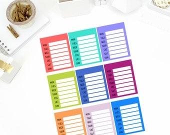 Blank Side Bar Stickers! Perfect for your Erin Condren Life Planner, calendar, Paper Plum, Filofax!