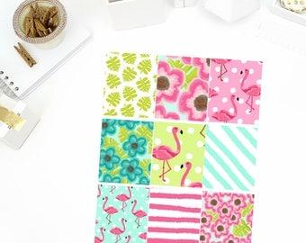 Be A Flamingo Full Boxes Stickers! Perfect for your Erin Condren Life Planner, calendar, Paper Plum, Filofax!