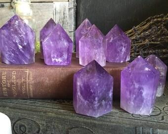Amethyst Crystal / Crystal Point / Amethyst Point / Amethyst Standing Crystal / Purple Amethyst Wand / Healing Crystals / Mineral Specimen