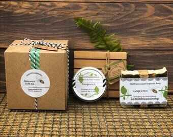 Sasquatch Soap Gift Set+Organic Soap+Handmade Soap+Sasquatch Gift+Gift For Him+Gift For Guys+Gift For Dad+Natural Soap+PNW+Ecofriendly Gift