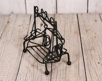 Metal swing - Vintage swing - Small wire swing - Children's swing - Swing for love - Old small swing - Moving swinging - Vintage cradle