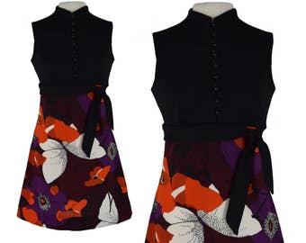 Vintage Dress, 1960s Dress, 60s Dress, Mod Dress, Floral Vintage Dress, Mod Floral Dress, Mod Scooter, Shift Dress, Floral Dress, Size Small