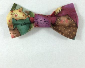 Cat Print Cat Bow tie, Cat tie, Cat Bow tie collar