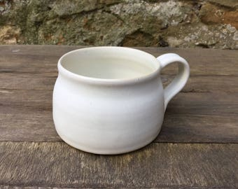 Hand thrown  stoneware coffee mug #4