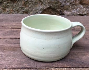 Hand thrown stoneware coffee mug #7