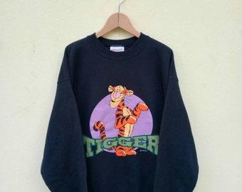 Vintage suéter de suéter/de dibujos animados de Disney Tigger sudadera/Tigger