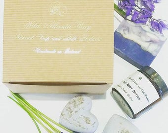 Lavender Spa Set, Spa Kit, Bath Gift Set, Gift for Her, Natural Spa Set, Bridesmaid Gift, Gift for Girlfriend