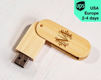 Monogram 2 - Personalised USB flash drive, Laser Engraved Pendrive