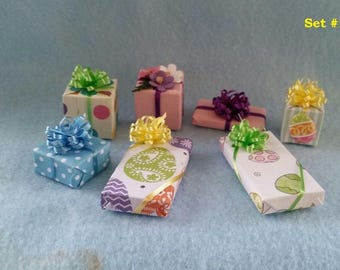 Miniature Easter Presents (1/12th Dollhouse scale)