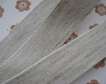 Lovely natural Hemp Cotton mix trim width 19mm PER METRE
