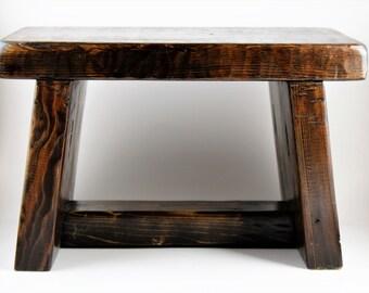 Rustic pine step stool