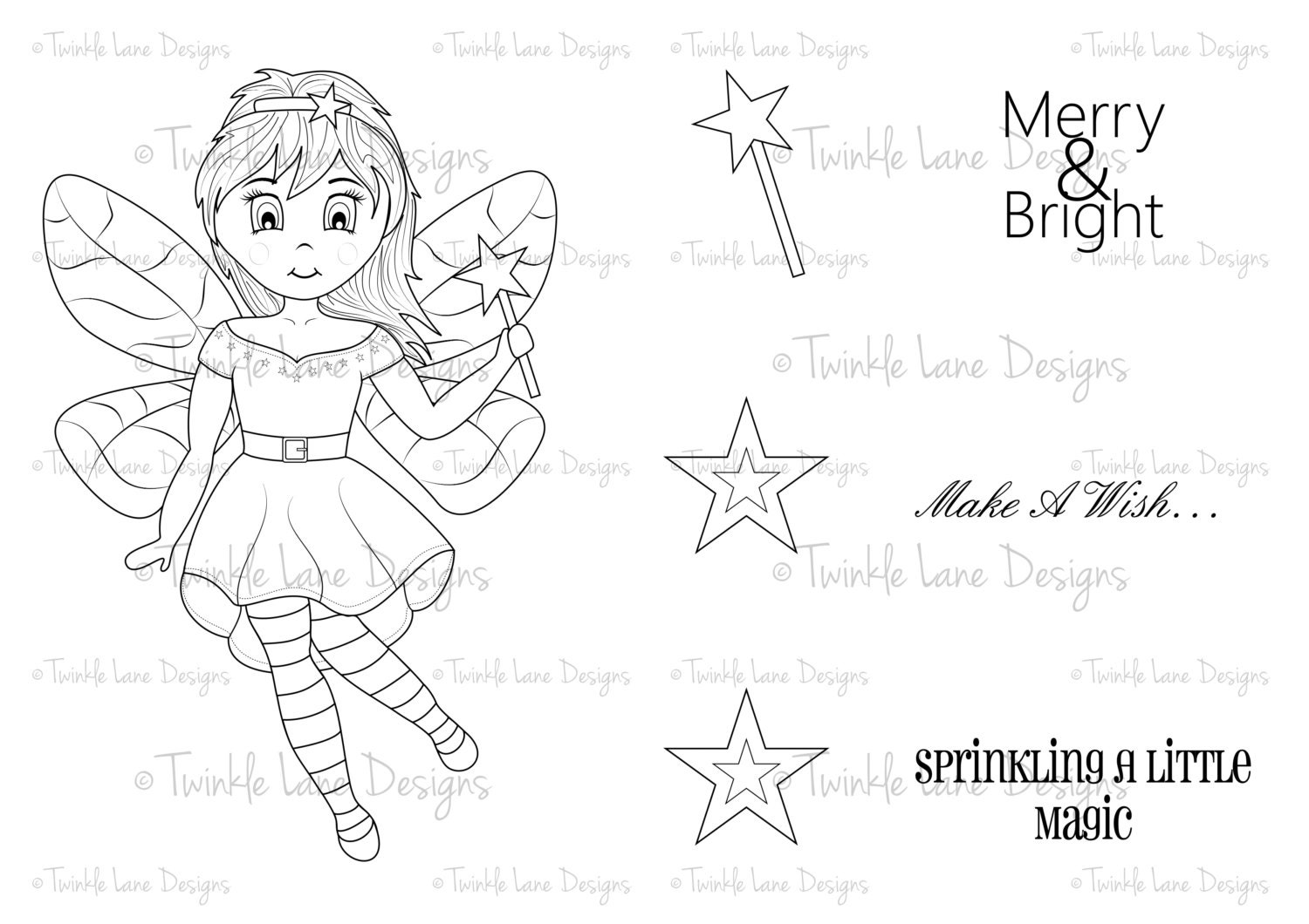 fairy godmother fairy digi stamp for her clipart fairy fairy
