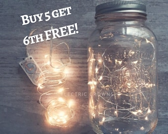 Wedding Decorations, Fairy Lights, Fall Wedding, Mason Jar Lights Firefly lights, Rustic Wedding Decor, Firefly Jar lights, battery  *no jar