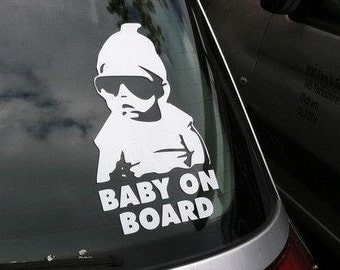 Hip Dude Baby On Board Decal