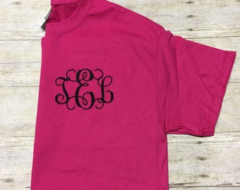 SALE  ****Monogram T Shirt, Personalized T-Shirt, Monogram Tee Shirt
