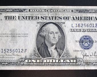 Series 1935-D One Dollar Silver Certificate L 15256012 F