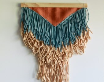 Tricolore Boho Handwoven Tapestry   Wandbehang   Weaving   Tissage Mural   Wallhanging