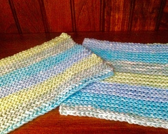 Matching Crocheted Kitchen Dishcloths