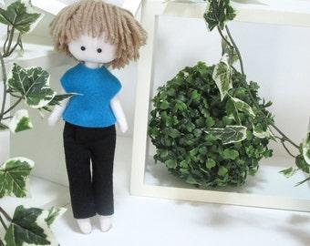 Tommy, Paperdoll Boy Doll, little paperdoll, boy plush