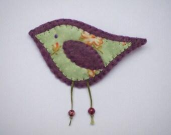 Felt Bird Brooch, Bird Brooch, Felt Brooch, Fabric Brooch, Handmade Brooch, Bird Pin, Bird Jewellery, Handmade Felt Bird Brooch, Bird Pins