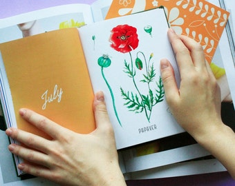 Daily planner| Handmade diary| Planner 2017| Dated diary| Handmade journal| PLAN WITH ME