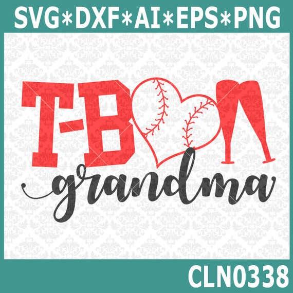 CLN0338 T-Ball Grandma MawMaw Mimi Teeball Kid's Baseball SVG DXF Ai Eps PNG Vector INstant Download Commercial Cut File Cricut Silhouette