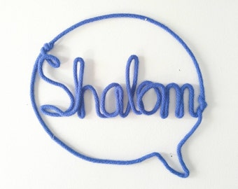 Shalom Sign, Trendy Wall Decor, Hello Sign, Kids Room Decor, Playroom Decor, Kids Room Sign, Boy Room Decorations, Handmade Signs,