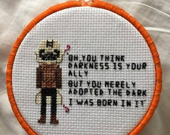 Bane parody cross stitch pattern