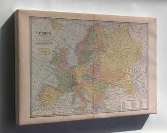 Canvas 24x36; Map Of Europe 1927 P2