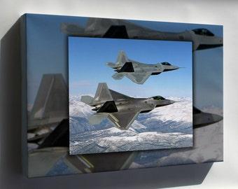 Canvas 24x36; F-22 Raptor