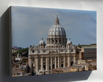 Canvas 16x24; St. Peter'S Basilica Vatican City Rome Italy