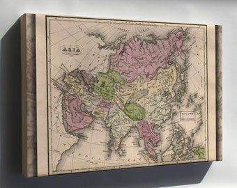 Canvas 16x24; Map Of Asia 1835