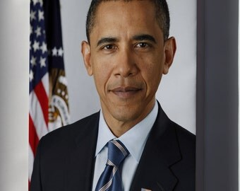 Canvas 16x24; President Barack Obama P2