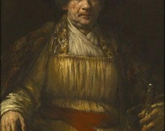 16x24 Poster; Rembrandt Self-Portrait
