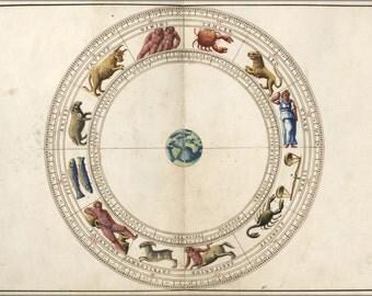 16x24 Poster; Astrology Zodiac By Batista 1544