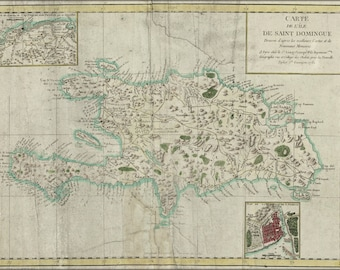 16x24 Poster; Map Of Hispaniola 1780