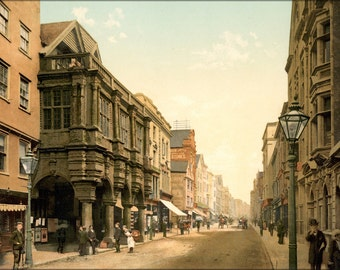 16x24 Poster; High Street, Exeter, England, Ca. 1895