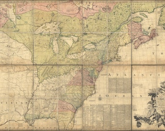 16x24 Poster; Map Of North America Pre United States 1774