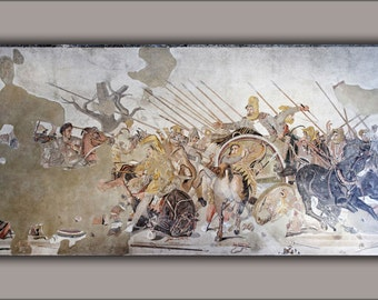 16x24 Poster; Alexander The Great Mosaic (Full Aspect)