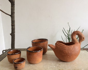 Set of 5 mexican small bowls.